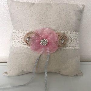 Other - Handmade vintage ring bearer pillow for wedding